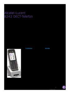 8242-dect-handset-datasheet-de 3   Systemhaus TeleTech Zossen, Berlin   Alcatel-Lucent, HPE, Lancom