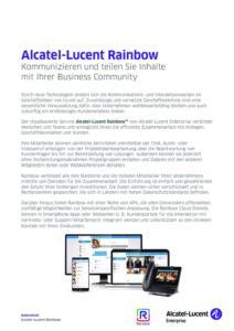 Alcatel Rainbow 3 | Systemhaus TeleTech Zossen, Berlin | Alcatel-Lucent, HPE, Lancom