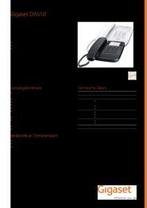 Gigaset DA510 analog Desktop Telefon (S30054-S6530-B102) 3   Systemhaus TeleTech Zossen, Berlin   Alcatel-Lucent, HPE, Lancom