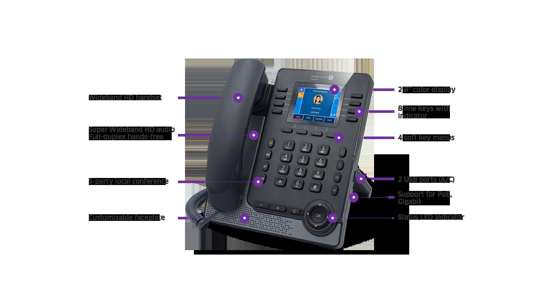 Alcatel-Lucent M5 SIP DeskPhone (3MK27002AA)3